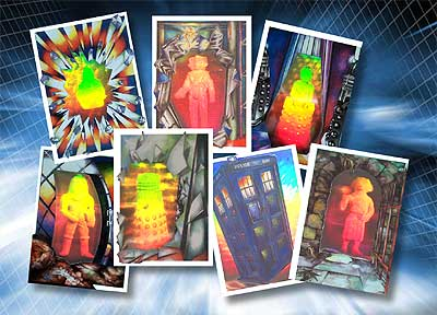 Set of 7 1988 Doctor Who Holograms