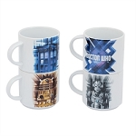 Doctor Who 4 pc. Stacking Ceramic Mug Set