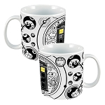 Doctor Who White Gallifreyan 20 oz Ceramic Mug