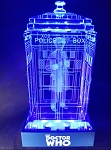 TARDIS with Colin Baker Crystal Carvings with LED Display