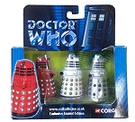 Corgi 3 Die Cast Dalek Set