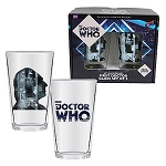 Doctor Who Anniversary First Doctor 16 oz. Glass Set of 2
