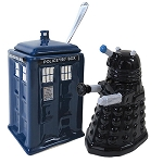 Doctor Who TARDIS vs Dalek Cream and Sugar Set