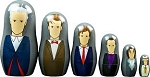 Doctor Who Nesting Doll Set: Doctors 7-12