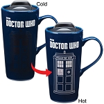 TARDIS Heat Reactive 20 oz Ceramic Travel Mug