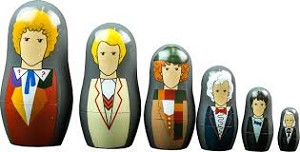 Doctor Who Nesting Doll Set: Doctors 1-6