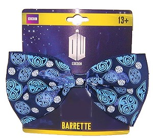 Barrette: Blue and White Gallifrey Emblems