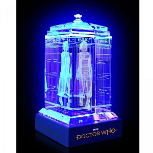 TARDIS with Jodie Whittaker Crystal Carvings with LED Display
