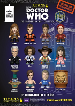 Titans Doctor Who Vinyl Figure, Partners in Time Collection (Unopened, 18 Units)